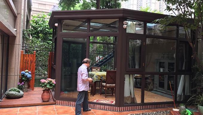 凯旋南城钢结构玻璃房