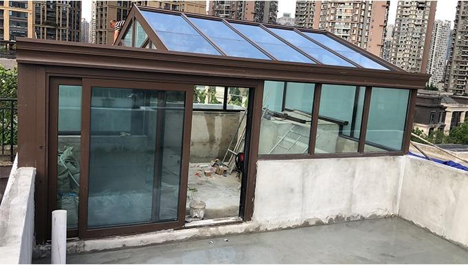 绿地锦天府钢结构阳光房